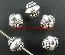 100pcs Tibetan Silver Nice Bicone Spacer Beads 7x7mm 167