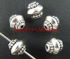 100pcs Tibetan Silver Nice Bicone Spacer Beads 7x7mm 167