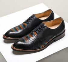 Mens Vintage Embossed Real Leather Lace Up Brogue OXford Formal Dress Shoes 4126