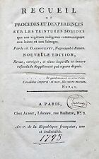 1793 DYEING TREATISE by DAMBOURNEY Woolen Fabrics Plants Fruits Insects