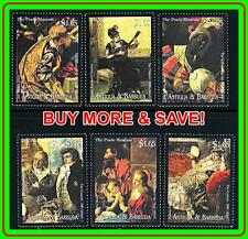 ANTIGUA 2000 FAMOUS PAINTINGS MNH ** MUSIC, COSTUMES, MADONNA, RELIGION
