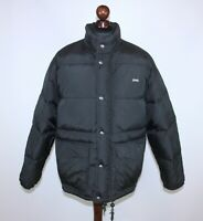 Vintage Schott New York NYC mens black down jacket Size M 90's