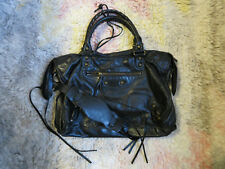 RARE!!!  Balenciaga Classic City 115748 Black Leather Hobo Shoulder Bag Purse