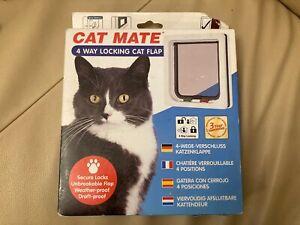 CAT MATE  4 Way Locking Cat Flap White GBP 19.95