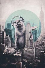 POLAR BEAR DJ POSTER (61x91cm)  PICTURE PRINT NEW ART