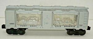LIONEL POSTWAR ORIGINAL 6445 FORT KNOX GOLD RESERVE TRANSPORT CAR