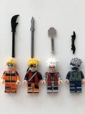 4 Pcs anime Naruto Naruto Sage Mode Kakashi Sensai Jiraiya Building Blocks Toy