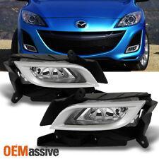 Fit 2010-2011 Mazda 3 Mazda Sedan 4/5dr Fog Lights Lamps w/Switch+Bezel L+R