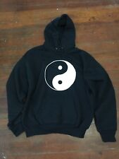 Peace Novelty Hoodie Hoody hooded Top - Ying Yang Solid mens size XL