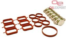 33 mm Swirl Flap Blanking Plates Kit with Intake Manifold Gasket for BMW 6items