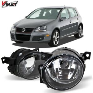For 06-09 Volkswagen GTI Jetta Fog Light OE Style Replacement Clear Lens Set