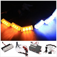 18 LED Flashing Beacon Lightbar Strobe Warning Lights Universal Car Van Truck