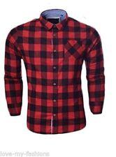 Camisas casuales de hombre rojo color principal multicolor
