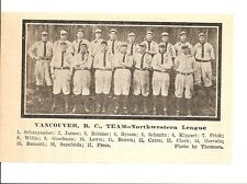 Vancouver Beavers 1912 Team Picture Pug Bennett RARE