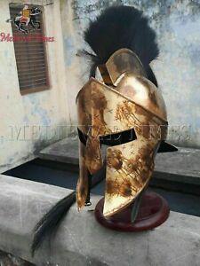 Medieval worrier Helmet Roman 300 Movie Spartan Costume King Leonidas Greek Gift