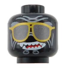 Lego New Minifigure Black Minifigure Head Alien Sunglasses Gold Frames Garmadon