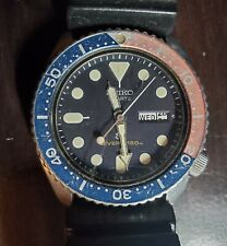 SEIKO Vintage Red/Blue150M Diver Mens Watch Pepsi