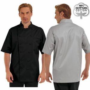 Chef Uniform Short Sleeve Coat Jacket Men Kitchen Work Cook Uniform Traditional