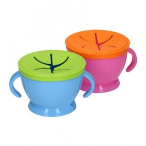 Childrens Snack Pot with Spillproof lid - Double handle - Snack on the Go Snack