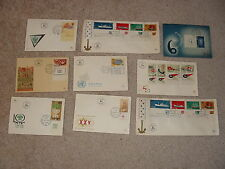 Israel 48 FDC's From the 1950's - 1980's All With Tabs