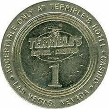 More details for ❤️terribles hotel casino las vegas $1 one dollar metal vintage token coin❤️