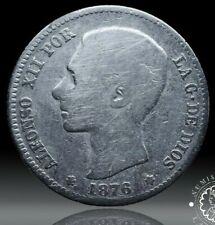 LADOBLA - 1876 - 1 PESETA - ALFONSO XII - Madrid - DE M - BC+ -