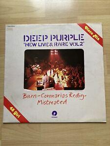 "Deep Purple: New Live and Rare Vol 2, Rare Italian 12"" vinyl single"