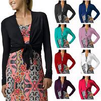 Stylish Cover Up Wrap Tops Long Sleeve Bolero Cardigan Shrug Casual Jacket Dress