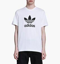 Adidas Originals Adicolor camiseta con el logotipo de Trébol en Blanco CW0710