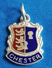 Chester Vintage Plata Pulsera Encanto de escudo de viaje.