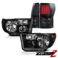 Black Crystal Clear Headlight+Smoke Tint LED Tail Light For 07-13 Toyota Tundra