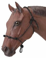 Tough 1 Knotted Rope & Twisted Crown Training Halter Black