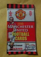 MANCHESTER UNITED FOOTBALL CLUB FUTERA FANS CARDS 1999 UNOPENED PACK OF FIVE BN