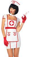 Nurse Hospital Heartbreaker Adult Costume Red & White Fancy Dress Leg Avenue