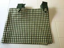 JC Penney Home Tab Top Valance Green Beige Gingham Country Checks 60 x 15""