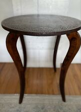 antique tramp art side table