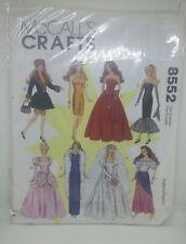 McCall's Crafts Pattern 8552 Barbie Clothes Wedding Cinderella Gypsy Uncut
