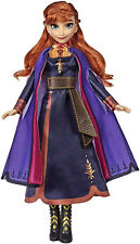 Disney Frozen 2 Singing Anna Fashion Doll with Music Wearing a Purple Dress Toy