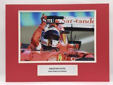 RARE Sebastian Vettel Ferrari F1 Signed Photo Display + COA AUTOGRAPH