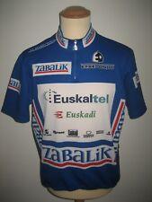 Euskaltel Euskadi RIDER WORN Spain shirt cycling maillot camiseta jersey size XL