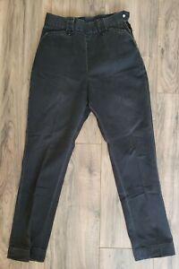 """Vintage 50s LEVI'S SHORT HORN RANCH PANTS JEANS Side Zip sz 24""""x25"""" XXS"""