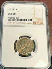 1978 5C Jefferson Nickel Ngc Gem Unicrculated Ms66 - Tough Coin