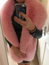 Real Pink Fox Fur Stole Wrap, XL New With Tags