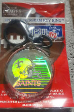 NEW ORLEANS SAINTS NFL IMAGES HOLOGRAM KEY CHAIN KEY RING FOOTBALL BREES PAYTON