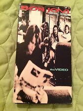 BON JOVI CROSS ROAD THE VIDEO VHS 1994 GREATEST HITS MUSIC