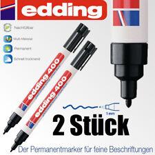 Edding 400 schwarz  *2 Stück*  permanent marker  Stift  wasserfest