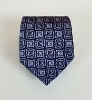 Hugo Boss 100% Silk Thick Tie Purple & Blue 59L 3.25W