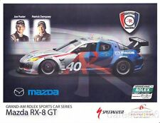 2010 Dempsey Racing Mazda RX-8 GT Grand Am postcard Patrick Dempsey