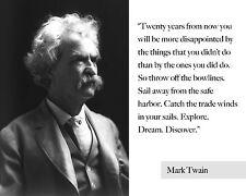 Mark Twain Quote 8x10 Fine Art Print Photo Picture Old Art Artwork Poster Vtg