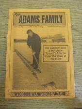 Mar-1996 Wycombe Wanderers: FANZINE-LA FAMIGLIA ADAMS EDIZIONE 21. grazie per la vista